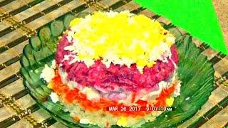 Вкусный и простой салат - Закат легко и просто