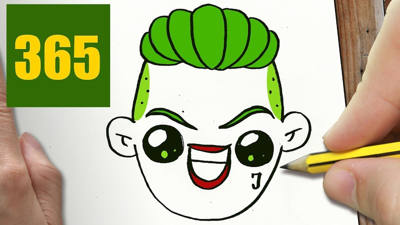 How To Draw A Joker Cute Easy Step By Step Drawing Lessons For Kids
