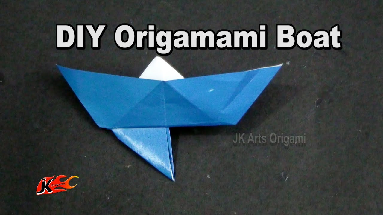 How To Make A Paper Boat With An Anchor Learn Origami Jk Origami
