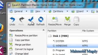 To Increasing Partition Of Windows By EASE US Partition Master 9.2.1