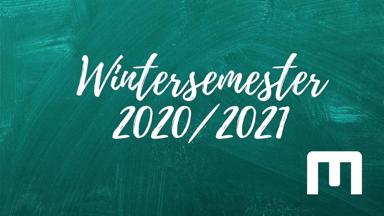 Start Wintersemester 2021