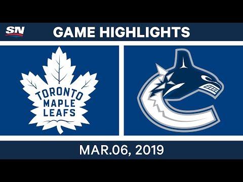 NHL Highlights | Maple Leafs vs. Canucks – Mar 6, 2019