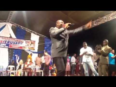 Rev.Chris Ogugua gospel singer performed at Rabbi K.A Schneider Crusade,Lira,Uganda.