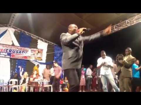 Rev.Chris Ogugua gospel singer performed at Rabbi K.A Schneider Crusade,Lira,Uganda.