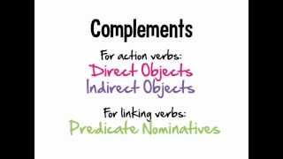 Verbs: Complements