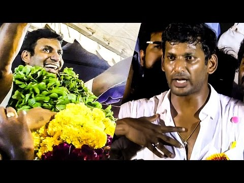 "GET READY: ""Tamilrockers and other enemies"" - Vishal's Bold Victory Speech 