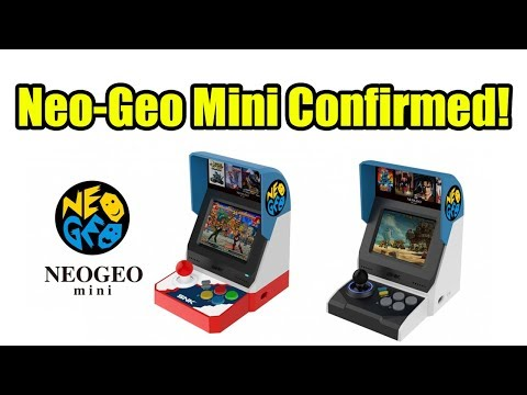 Neo-Geo Mini Confirmed 3.5 inch screen 40 built in games 2 Versions!
