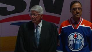 Rogers Place welcomes 12 new Canadian citizens with pregame ceremony