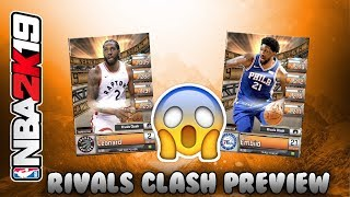 OMG THEESE CARDS!!! RIVALS CLASH PREVIEW! MyNBA2K19 #3