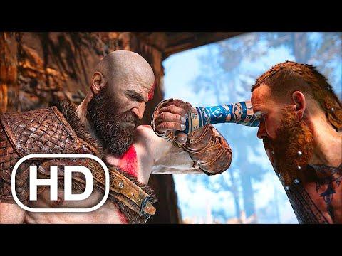 GOD OF WAR PS5 Kratos Vs Baldur Boss Fight Gameplay 4K ULTRA HD