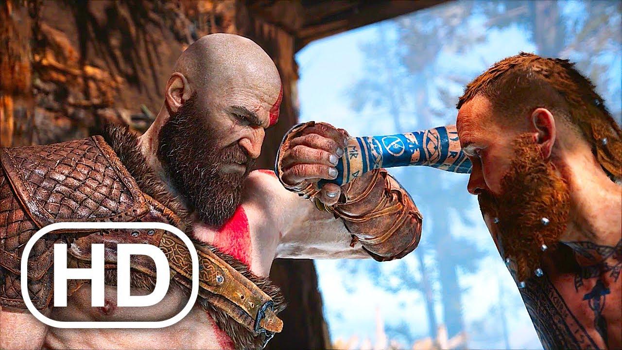 Download GOD OF WAR PS5 Kratos Vs Baldur Boss Fight Gameplay 4K ULTRA HD