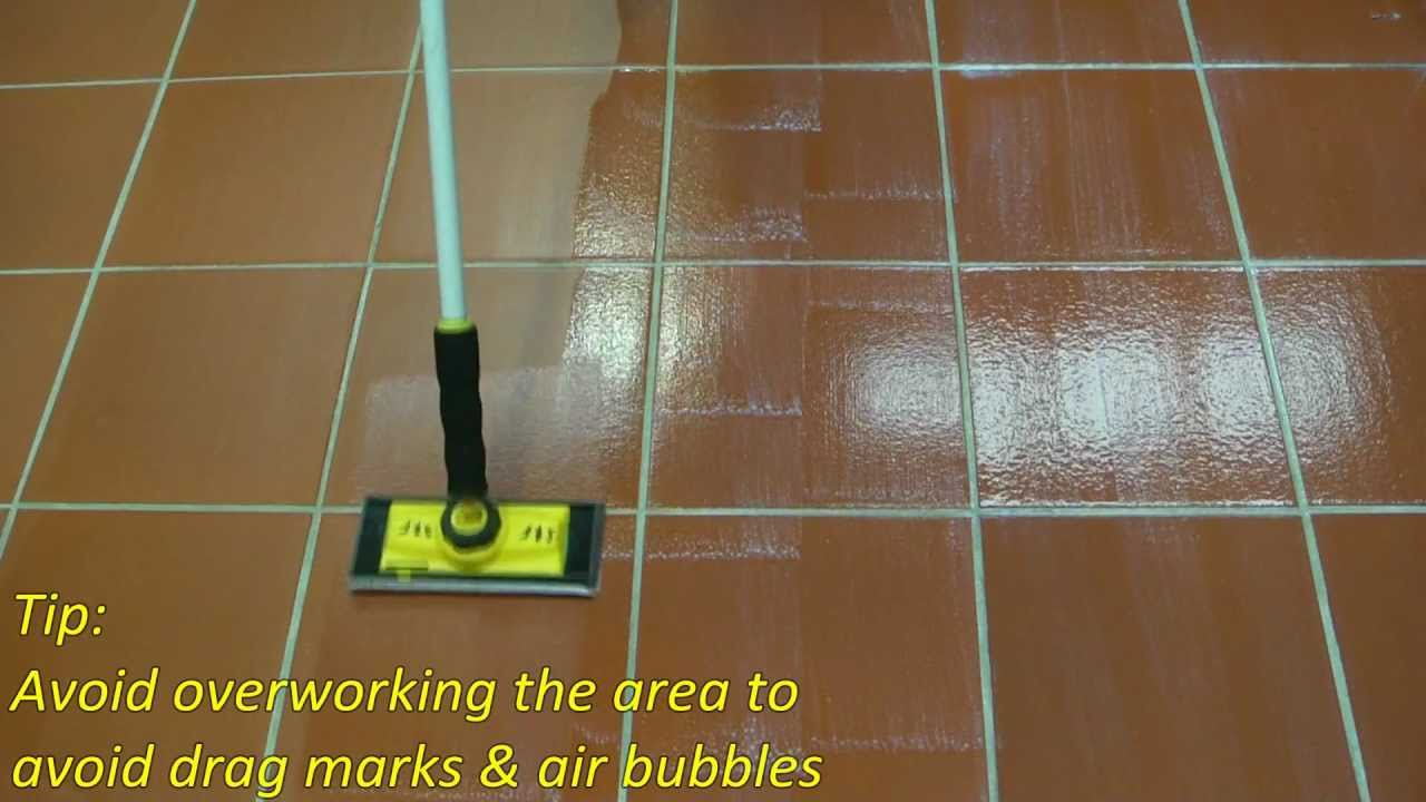 How To Apply A Coating Sealer SatinNSeal AquaSeal STS YouTube - Clear coat for tile floors