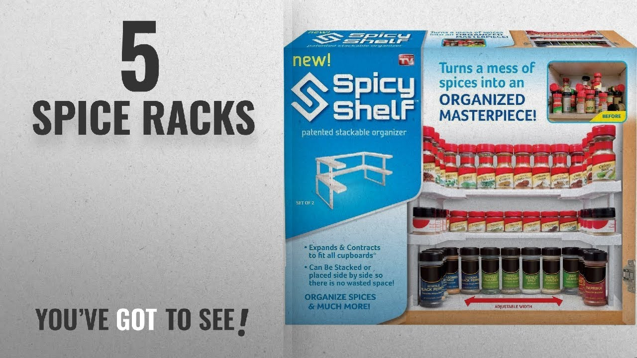 Top 10 Spice Racks [2018]: Spicy Shelf Spice Rack and Stackable ...