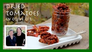 Storing Dehydrated / Sun Dried Tomatoes In Olive Oil For Convenient Uses