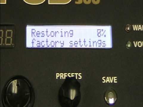 POD HD300 / HD400 Factory Reset