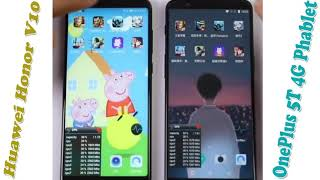 OnePlus 5T 6.01 Inch Smartphone Vs Huawei Honor V10 4G Phablet Compare Price