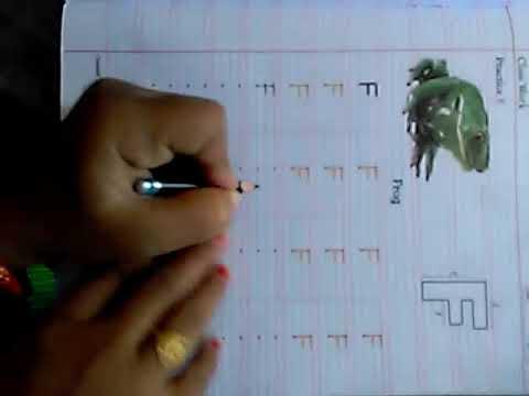 151. NURSERY CLASS- ENGLISH WORKBOOK  CAPITAL 'F'