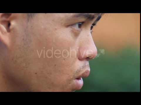 Asian Man Jogger Taking A Break - Stock Footage | VideoHive 16677926