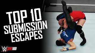 WWE 2K18 - Top 10 Submission Escapes! (Submission Counter Animations)