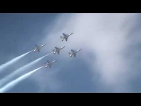 サンダーバーズ 三沢基地航空祭2009 ThunderBirds Misawa Japan AirShow