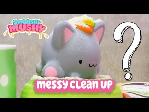 Smooshy Mushy | Kids Videos | Messy Clean Up Squishy Toy Play Compilation | Squishy Collection