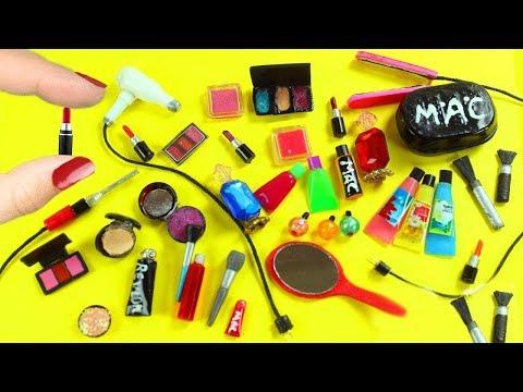 💄💋 DIY 30 articulos de maquillaje, cosmeticos y cosas de belleza en miniatura para muñecas