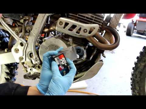 Honda XR250 Oil Change + Filter 2002 1996 2004