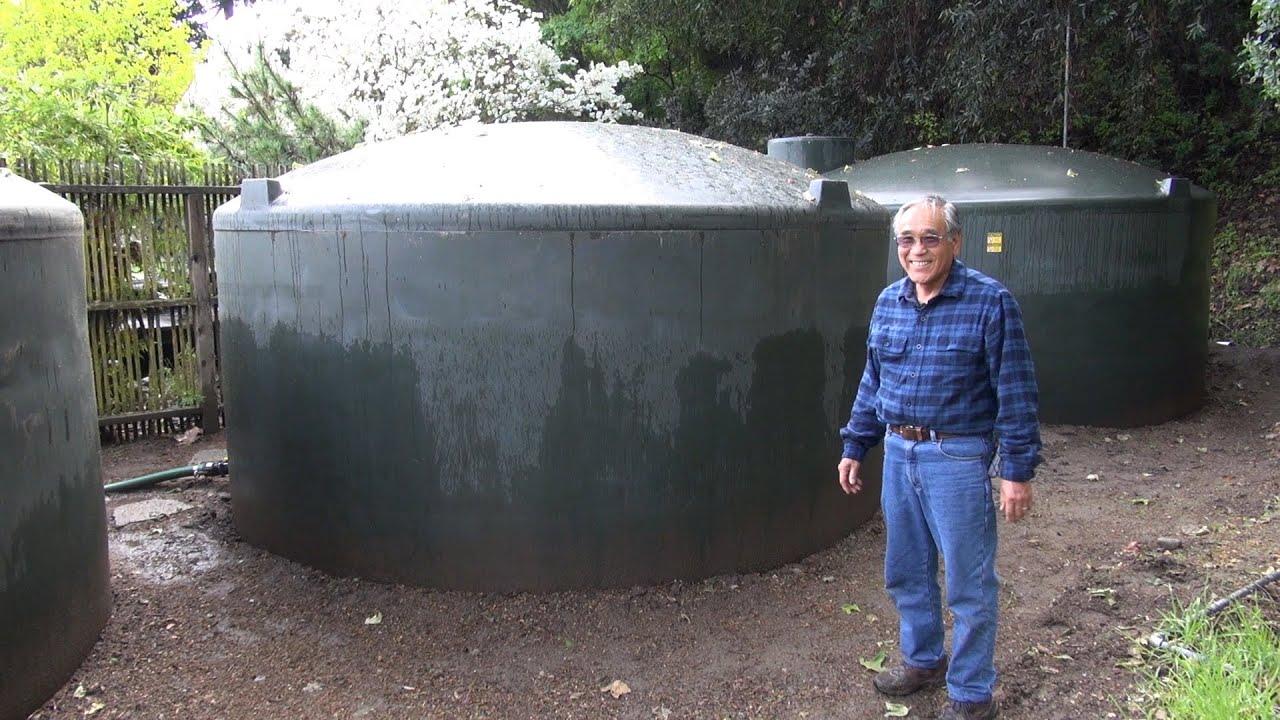 15 000 Gallon Rainwater Harvesting System Youtube