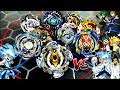 BLOODY LONGINUS vs ALL THE BIG FIVES -REAL LIFE ANIME STADIUM Beyblade Burst Super Z Battle!