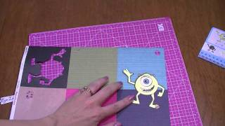 Cricut Pixar Mike Paper Layerz One Sheet Card