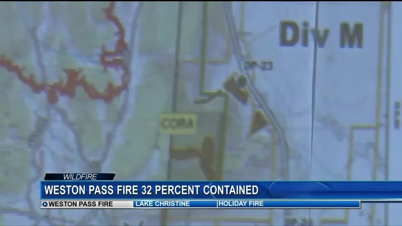 Weston Pass Fire Grows To More Than 13 000 Acres 32 Percent