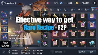Lineage 2 Revolution Effective Way To Get Rare Recipe For UR   F2P