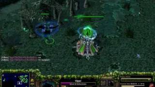 Me playing DotA on Warcraft III - Frozen Throne