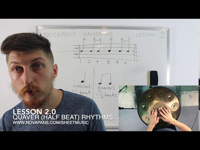 Quaver (Half-Beat) Rhythms | Lesson 2 | Handpan Lessons | NovaPans Handpans