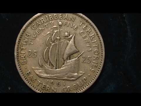 25 Cent 1961 Eastern Caribbean Coin