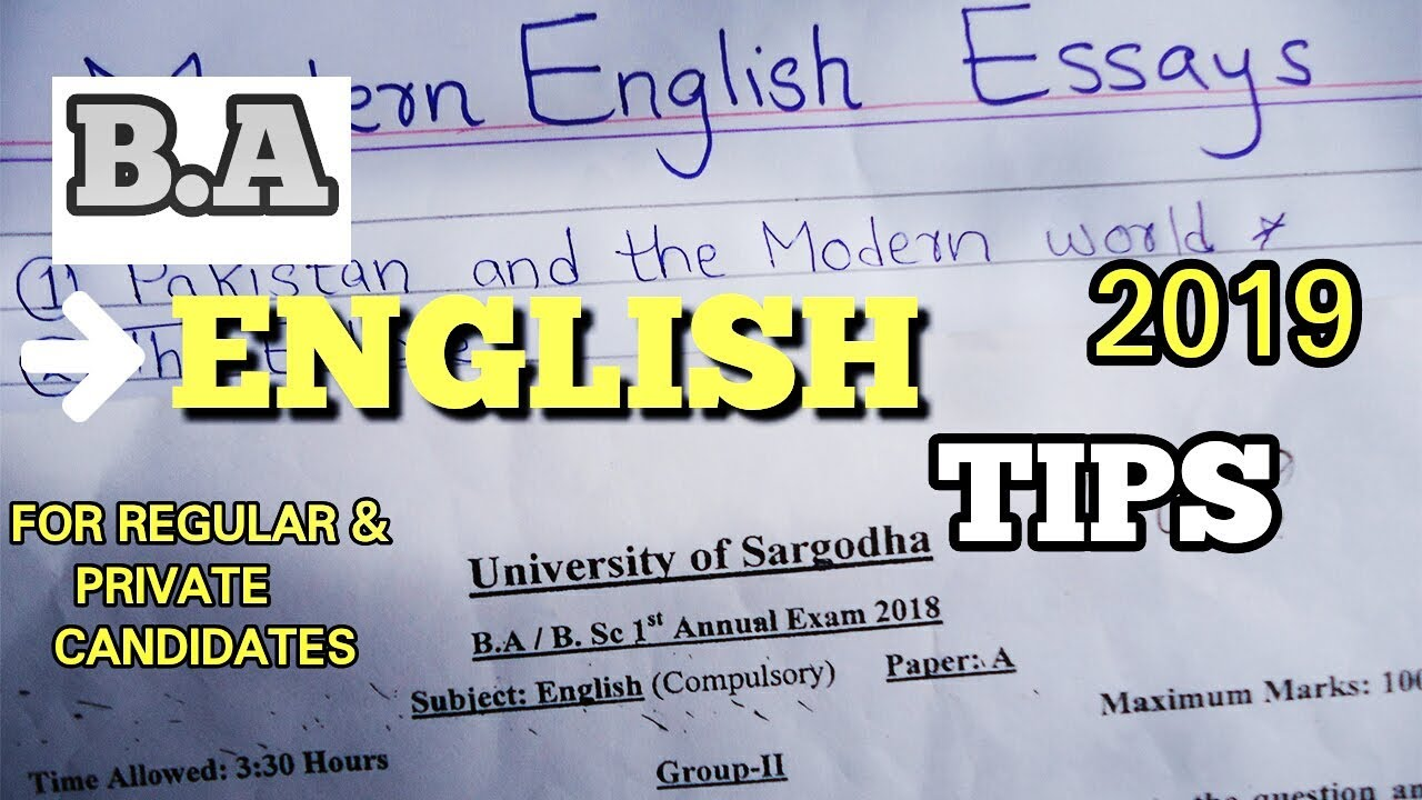 A Level English Essay Structure  Importance Of English Essay also Essay About Health Ba English Tips  Modern English Essay    University Of Sargodha Romeo And Juliet English Essay