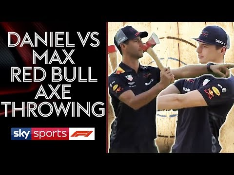 Daniel Ricciardo vs Max Verstappen | Red Bull Axe Throwing Showdown! 😲