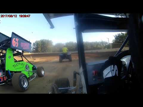 8/12/17 Sweet Springs Motorsports Complex Jr Sprint heat race group 1