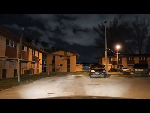 MIAMI'S WORST HOODS AT NIGHT