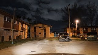 MIAMI'S WORST HOODS AT NIGHT