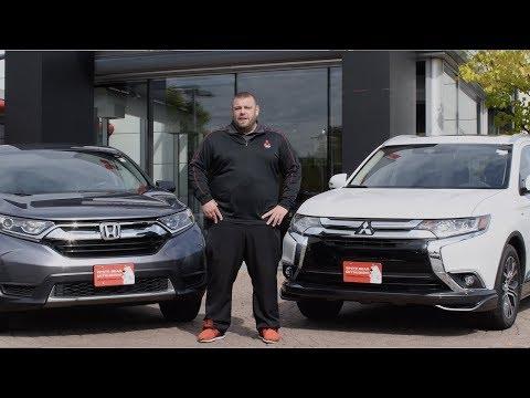 (4K) New 2017 Mitsubishi Outlander Vs 2017 Honda CR-V Comparison - White Bear Mitsubishi