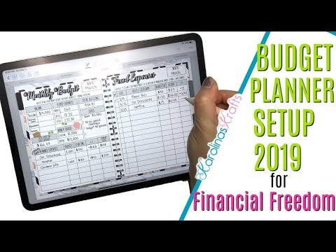 Budget Planner Setup 2019 in my Digital Planner on iPad Pro, How to Budget for Financial Freedom