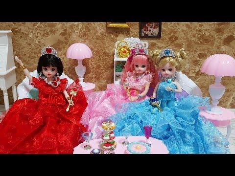 Princess Barbie Doll Dress Jewelry Accessories باربي مجوهرات فساتين राजकुमारी गुड़िया पोशाक आभूषण