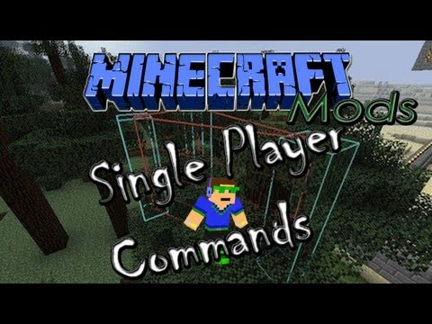 1.5.2 Minecraft Mods | Single Player Commands - Review & Installation