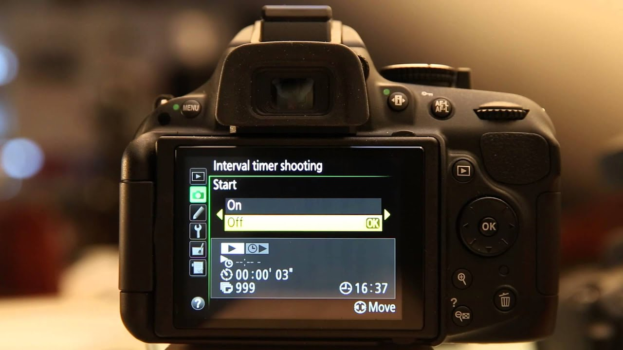 Nikon D5200 - Intervalometer Settings & Tips