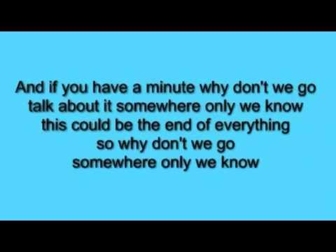 Somewhere only we know - Keane (acoustic) lyrics
