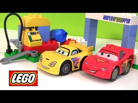 cars 2 lego duplo race day lightning mcqueen 6133 jeff gorvette