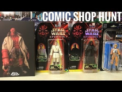 b0c8f15878453 EP103- Vintage Comic Shop Toy Hunt/ Ross Clearance/ 1000toys Hellboy/  Thinkgeek Sales