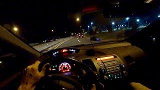 2009 Honda Civic Si Night Drive POV - 283HP (Binaural Audio)