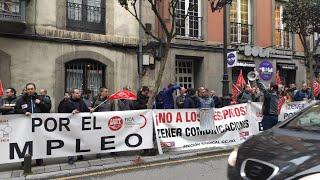 Concentración de trabajadores de Zener frente al Sasec